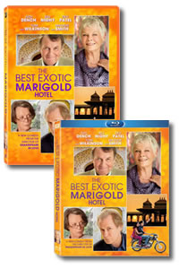 The Best Exotic Marigold Hotel on DVD Blu-ray today