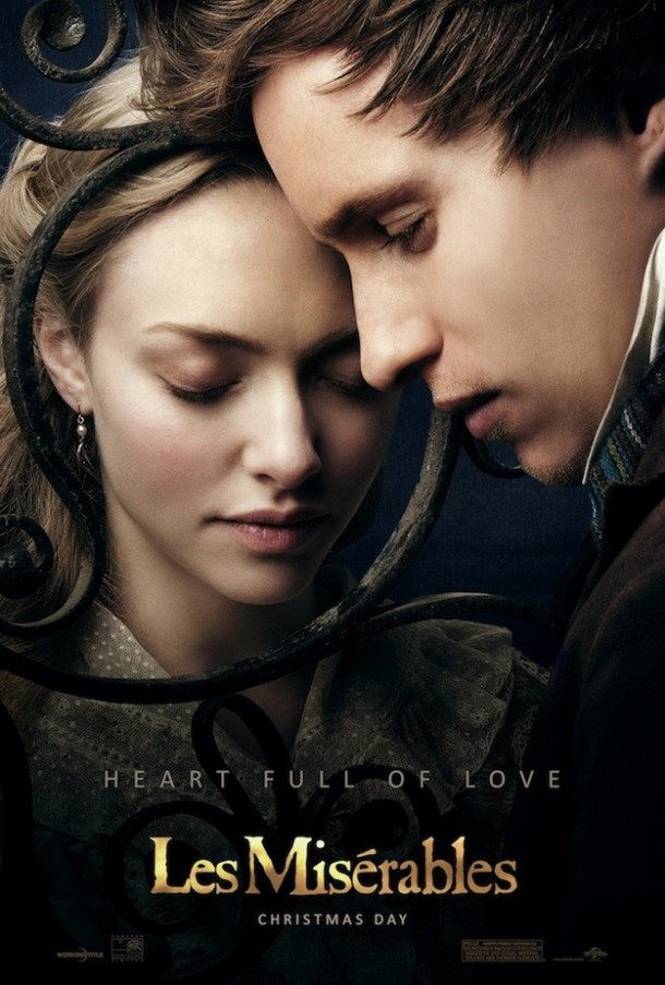 Les Miserables Poster - Amanday Seyfried and Eddie Redmayne
