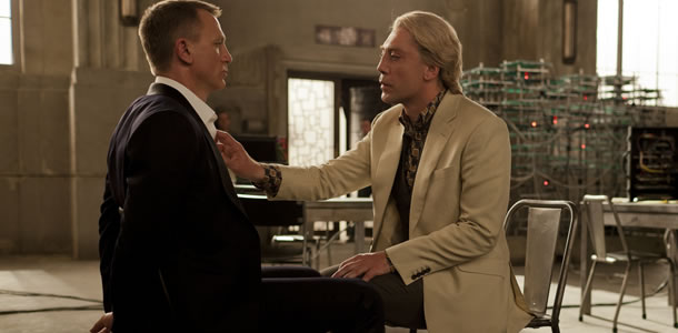 Daniel Craig and Javier Bardem in Skyfall