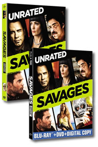 Savages (Unrated) on DVD Blu-ray today