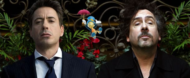 Tim Burton and Robert Downey Jr. are doing Pinocchio