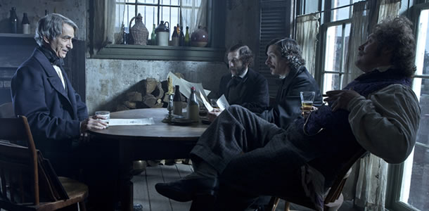 David Strathairn, John Hawkes, Tim Blake Nelson and James Spader in Lincoln