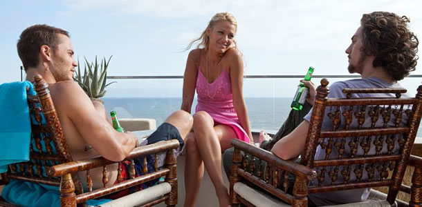 Taylor Kitsch, Blake Lively and Aaron Johnson in Savages