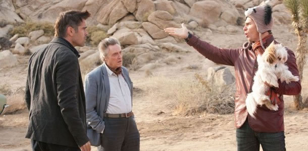Colin Farrell, Christopher Walken and Sam Rockwell in Seven Psychopaths