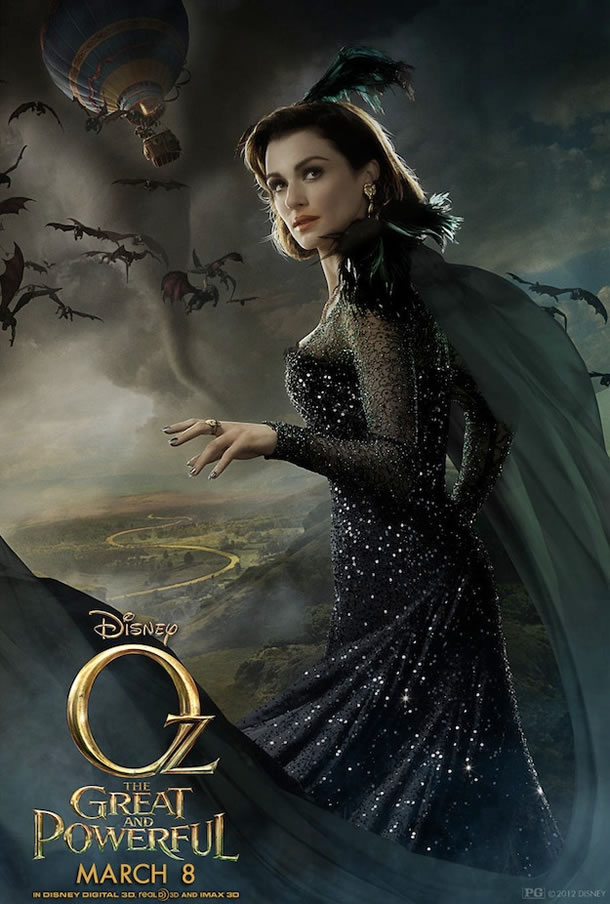 Oz: the Great and Powerful poster (Rachel Weisz as Evanora)