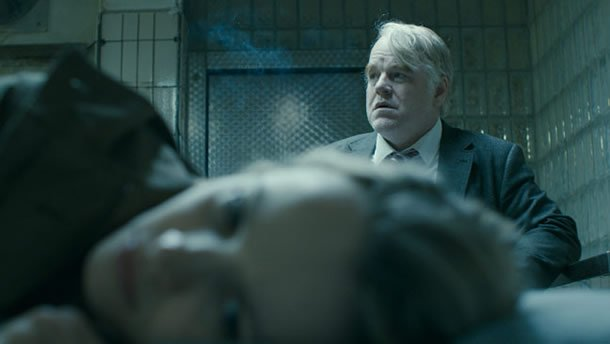 Rachel McAdams and Philip Seymour Hoffman in A Most Wanted Man