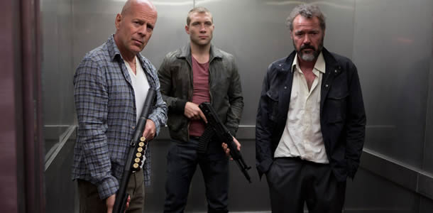 Bruce Willis, Jai Courtney and Sebastian Koch in A Good Day to Die Hard