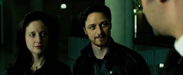 Andrea Riseborough and James McAvoy in Welcome to the Punch