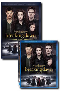 The Twilight Saga: Breaking Dawn - Part 2 on DVD Blu-ray today