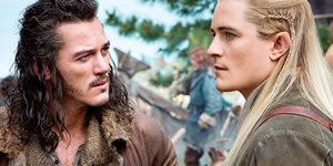 Luke Evans and Orlando Bloom in The Hobbit: There and Back Again