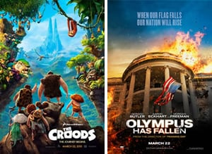 The Croods and Olympus Has Fallen Box Office Results