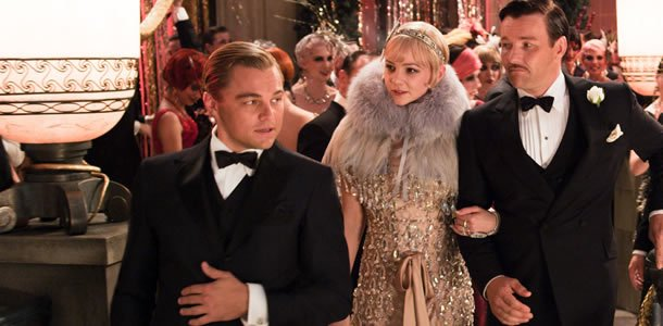 Leonardo DiCaprio, Carey Mulligan and Joel Edgerton in The Great Gatsby