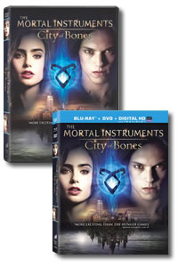 The Mortal Instruments: City of Bones on DVD Blu-ray today