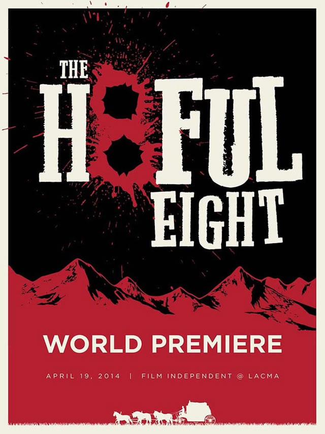 Quentin Tarantino The Hateful Eight live reading poster