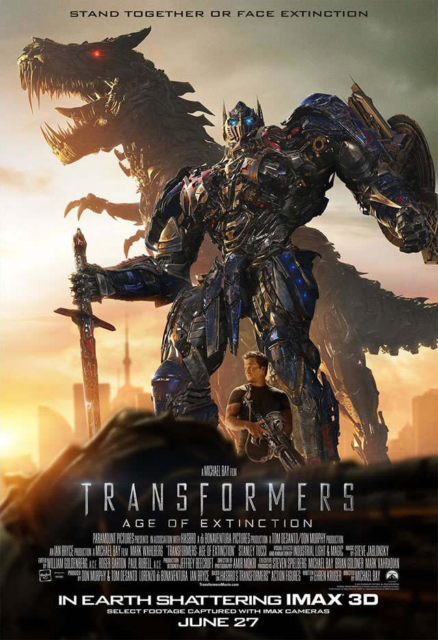 Transformers: Age of Extinction IMAX poster