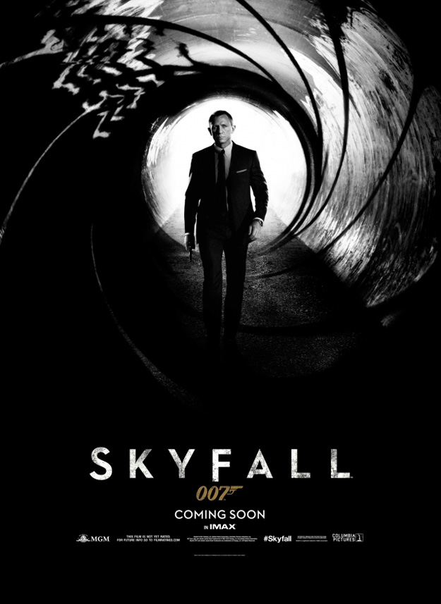 First Poster for the 23rd James Bond Movie, Skyfall