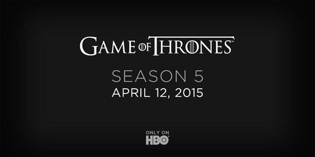 Game of Thrones Season 5 premiere date announced