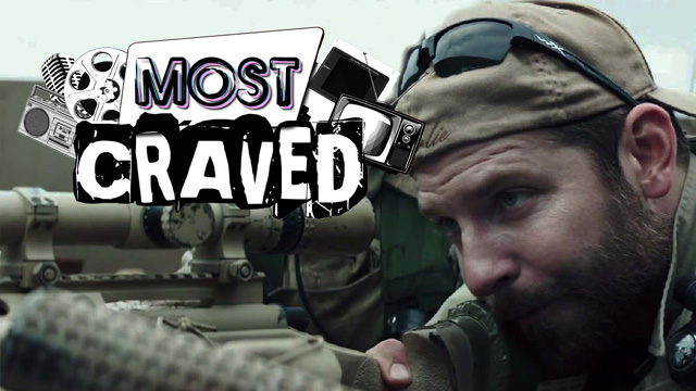 American Sniper, The X-Files and 24 on this week's Most Craved.