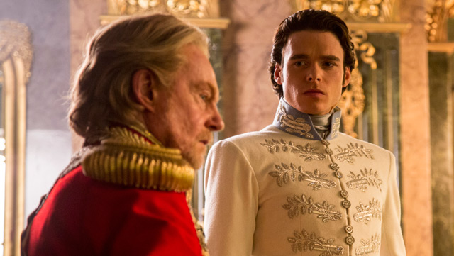 Game of Thrones actor Richard Madden reigns as Prince Charming in upcoming Cinderella movie.