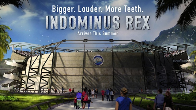 The Indominus Rex is another of the Jurassic World dinosaurs featured in the June 12 release.