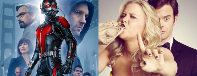 How much competition will Trainwreck give Ant-Man at the box office on July 17?