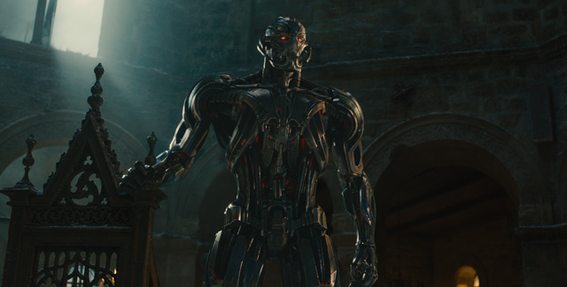 Created by Tony Stark, Ultron is rogue guardian, now enemy of the human race. See Avengers: Age of Ultron in theatres May 1.