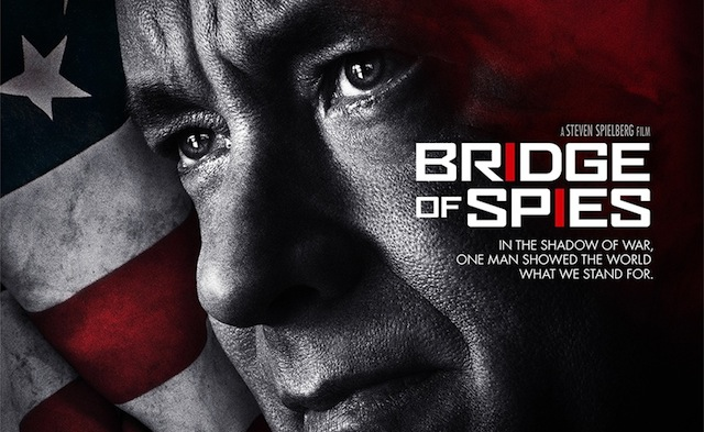 Tom Hanks is front and center on the Bridge of Spies poster.