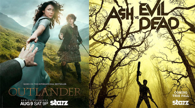 STARZ has announced Outlander and Ash Vs. Evil Dead Comic-Con panels.