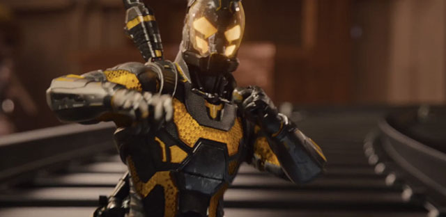 Among the Ant-man villains of the new film is Yellowjacket!