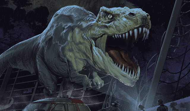 Get ready for the Mondo Jurassic Park gallery, coming to Austin, TX later this month!
