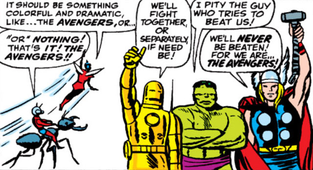 The Avengers form in our Ant-Man Wasp spotlight.