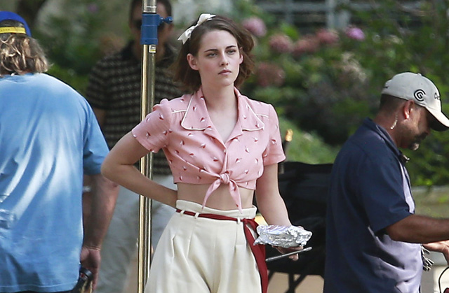 Kristen Stewart Photos from the Set of the New Woody Allen Film