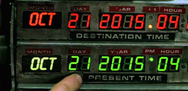 Back to the Future arrives one day early: October 20.