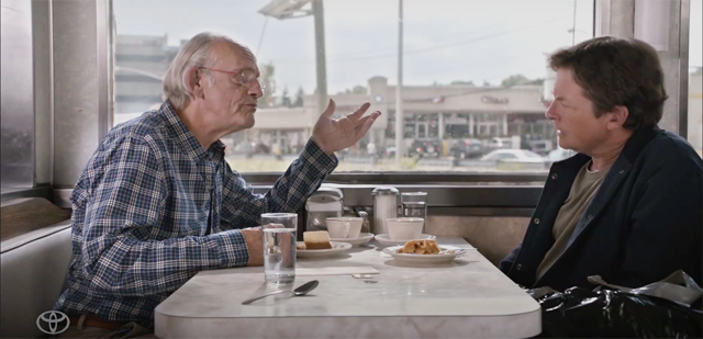 Back to the Future Stars Michael J. Fox and Christopher Lloyd Reunite for Toyota.