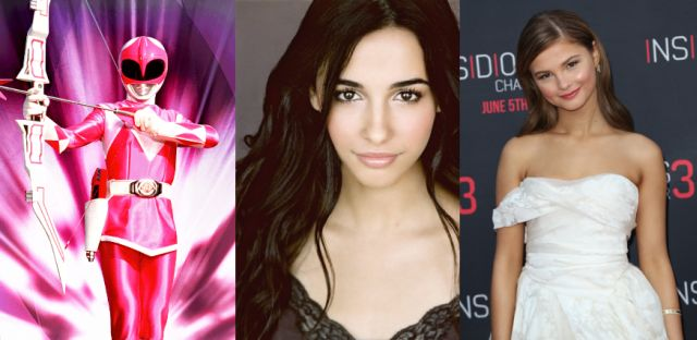 Finally, testing for the role of Kimberly/The Pink Ranger in the Power Rangers reboot are Naomi Scott (The Martian) and Stephanie Scott (Insidious: Chapter 3).