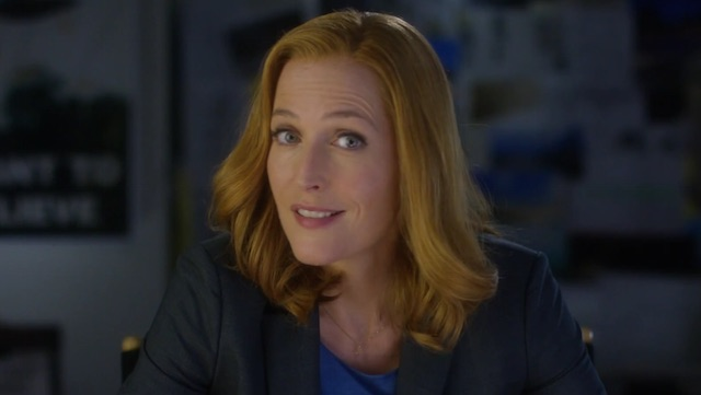 Gillian Anderson hosts a new X-Files promo.