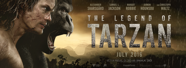 The Legend of Tarzan Poster Featuring Alexander Skarsgard Swings In!