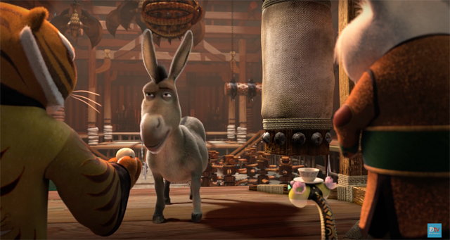New Kung Fu Panda 3 Commercial Featuring Donkey and Shrek!