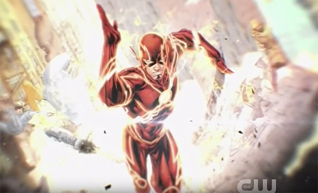 Grant Gustin Supports Ezra Miller as Barry Allen in The Flash Film.