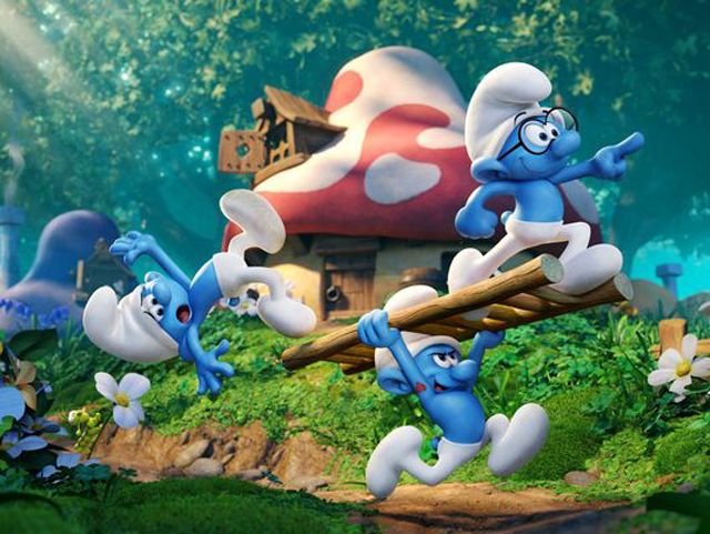 First Look at Fully-Animated Movie Smurfs: The Lost Village.