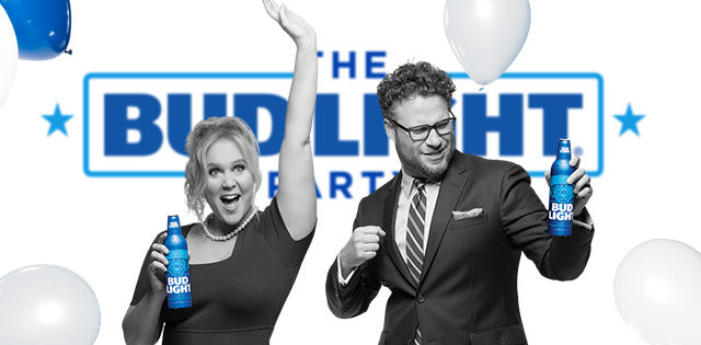 Seth Rogen and Amy Schumer Star in Bud Light Super Bowl Commercial.