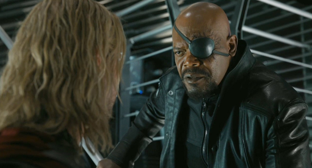 Image result for nick fury, thor