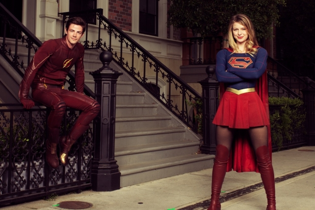 Grant Gustin Shares Photo from the Set of The Flash and Supergirl Crossover!