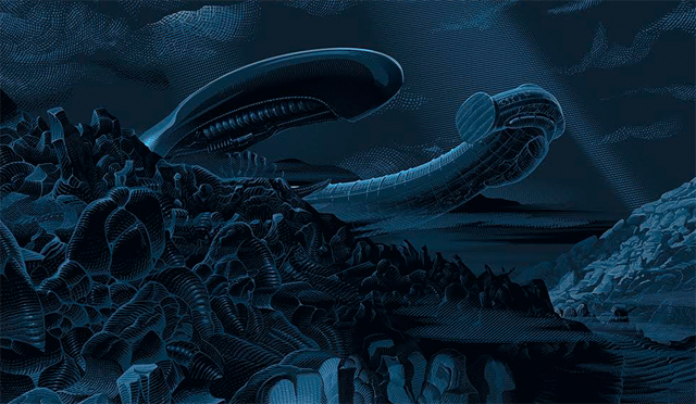 Exclusive Bottleneck Gallery Alien Day Print