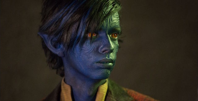 Kodi Smit-McPhee debuts as Nightcrawler in the X-Men: Apocalypse cast.
