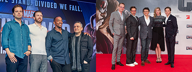 Photos from the International Captain America: Civil War Premieres
