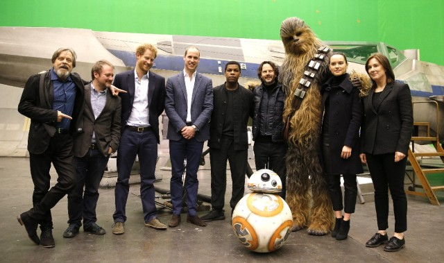 A Pair of Princes Visit the Star Wars: Episode VIII Set