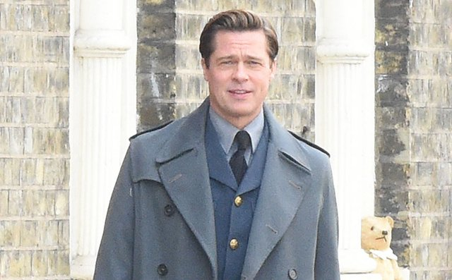 Allied Set Photos with Brad Pitt and Lizzy Caplan