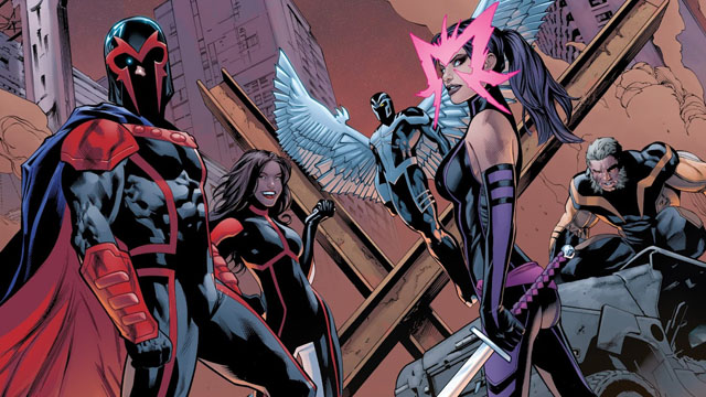 Magneto's X-Men included Psylocke in its ranks.