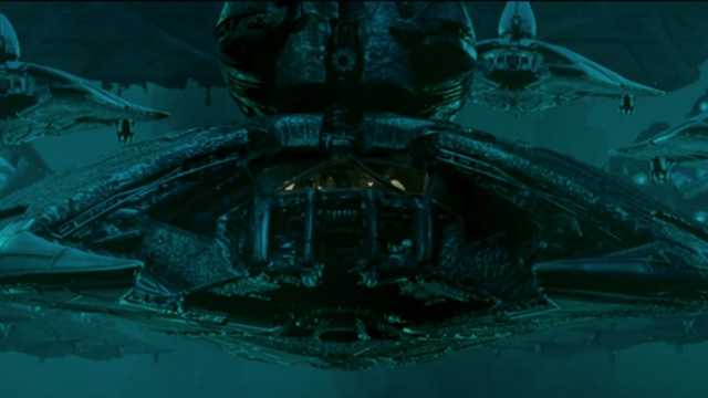 The Independence Day aliens have their own ships.